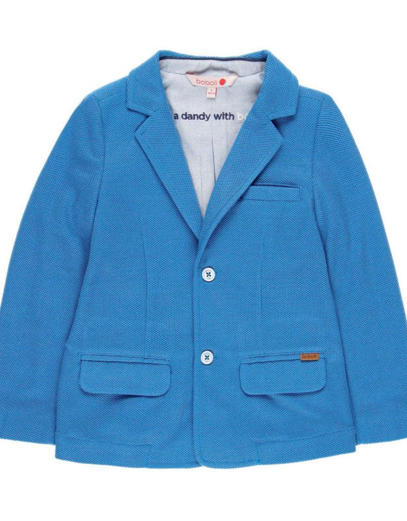 Boboli Boboli Knit blazer fantasy for boy overseas blue 739122