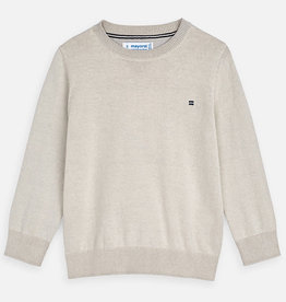 Mayoral Mayoral Basic crew neck sweater Ivory - 00311
