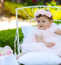 Patachou Patachou Jurk roze met roesel kraag