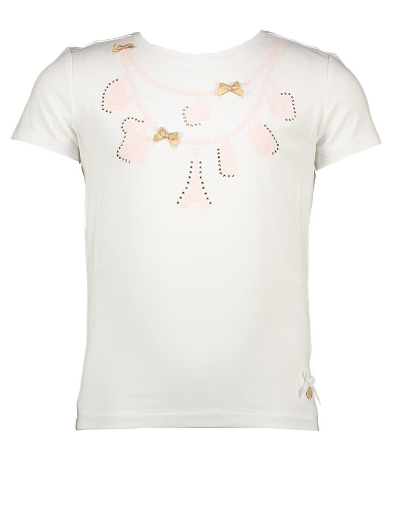 Le Chic Le Chic T-shirt magnifique le chic C911-5471 Shade of Jade