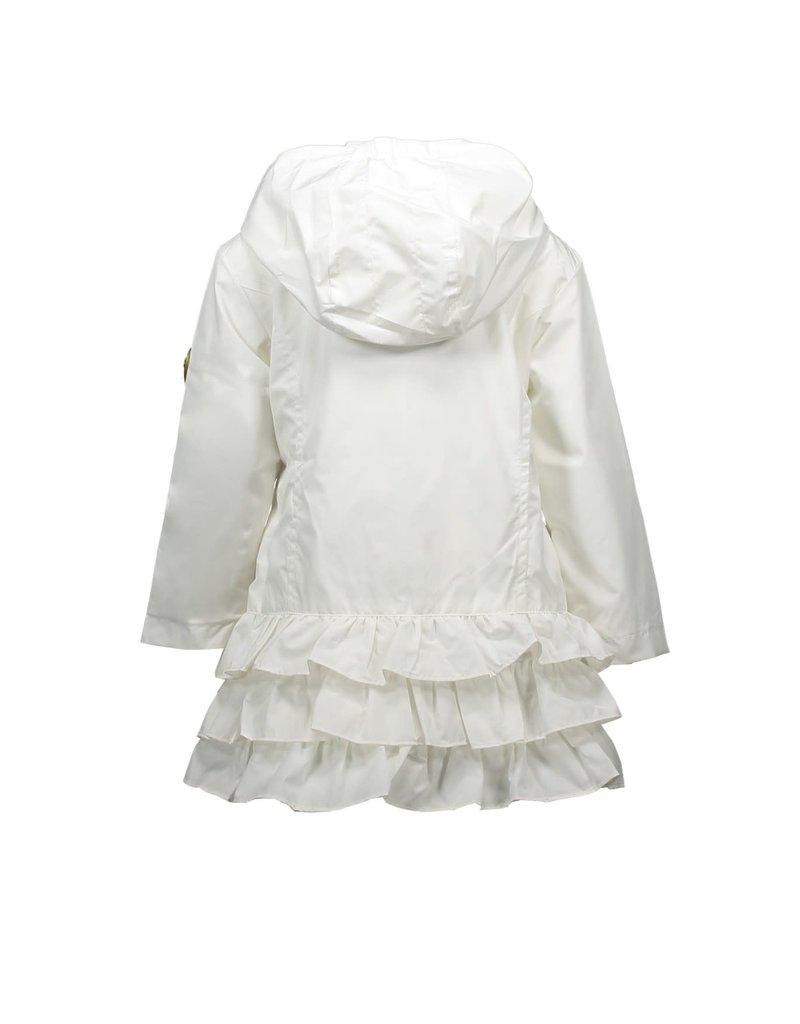 Le Chic Le Chic jas wit met gouden rits en roesels