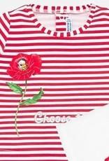 Mayoral Mayoral Shirt rood wit gestreept