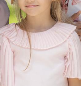 Patachou Patachou blouse roze plisee
