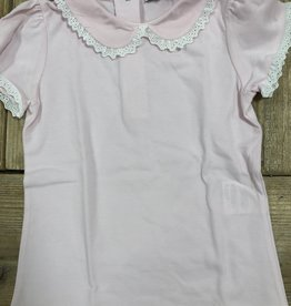Patachou Patachou shirt roze met kant randje