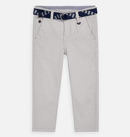 Mayoral Mayoral  pique belt pants Stone - 03531