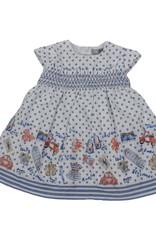 Dr Kid Dr Kids Baby Girl Dress 108-Azul Medio-DK300