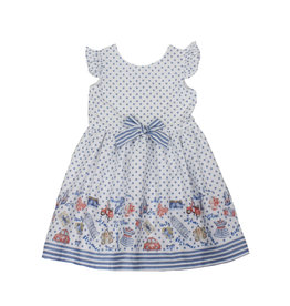 Dr Kid Dr Kids Girl Dress 108-Azul Medio-DK400