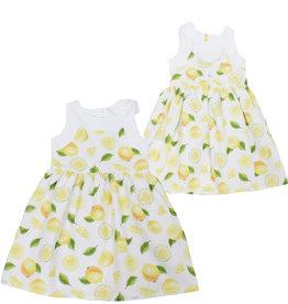 Dr Kid Dr Kids Girl Dress 206-Amarelo Limão-DK410