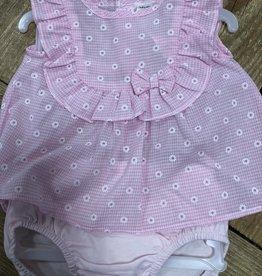 Tutto Piccolo Tutto Piccolo Jurkje roze met bloem met broekje
