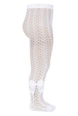 Condor Condor maillots wit opengewerkt met strik