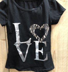 Villa Style Villa Shirt LOVE met panter print