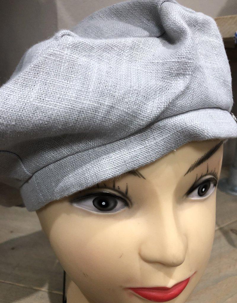 Baret linnen licht grijs