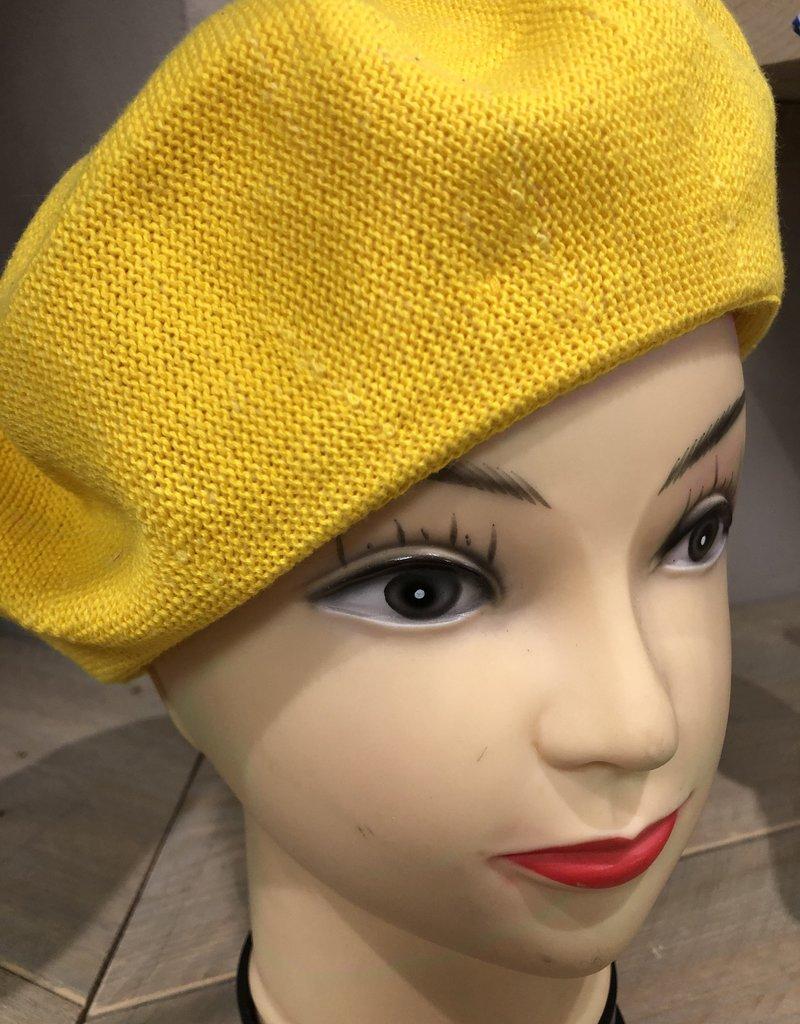 Baret linnen geel