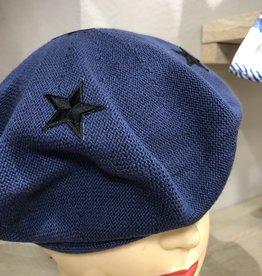 Baret donkerblauw met sterren