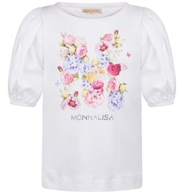 Monnalisa Monnalisa T-SHIRT ST.M FLOREALE 2 Panna