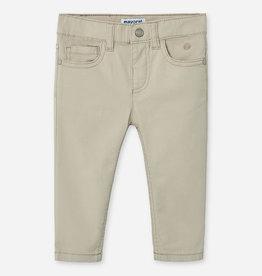 Mayoral Mayoral Basic slim fit serge pants Jute - 00506