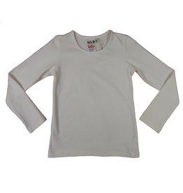 Lofff Lofff Shirt lange mouw off white met stras hartje