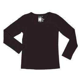 Lofff Lofff Shirt lange mouw zwart met stras hartje