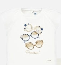 Mayoral Mayoral Shirt off white glasses gold blue