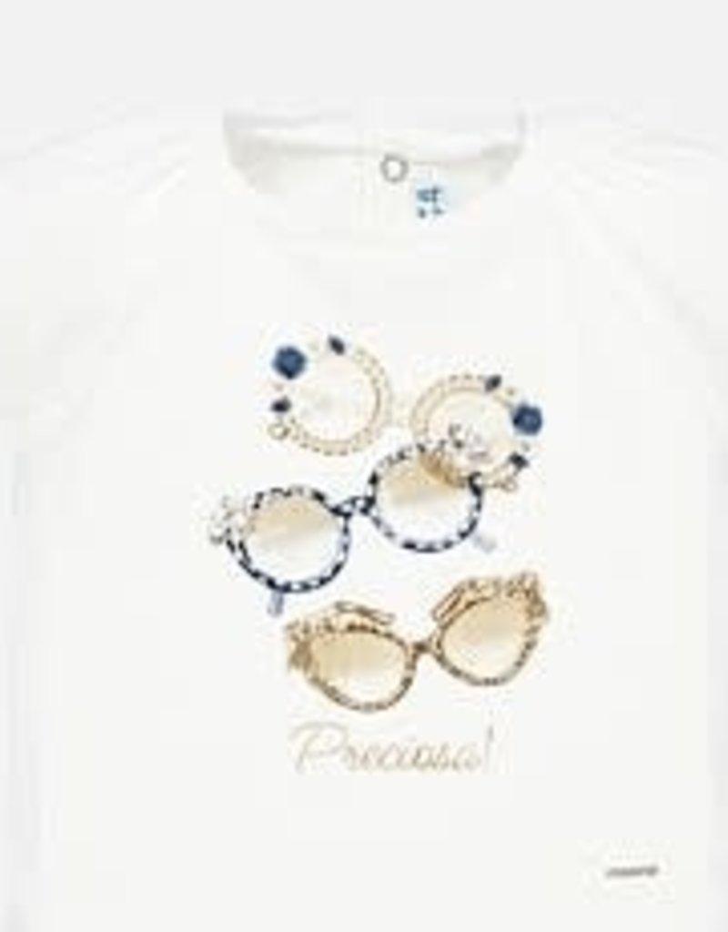 Mayoral Mayoral Shirt off white glasses gold blue