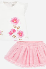 Mayoral Mayoral Skirt set with matching headband for newborn girl