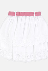 Mayoral Mayoral Twill skirt white whith red