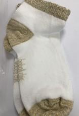 Boboli Boboli  Sokje wit met gouden rand