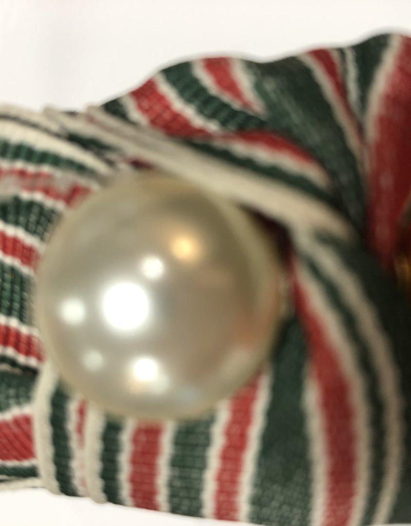 Diadeem groen /rood met parel