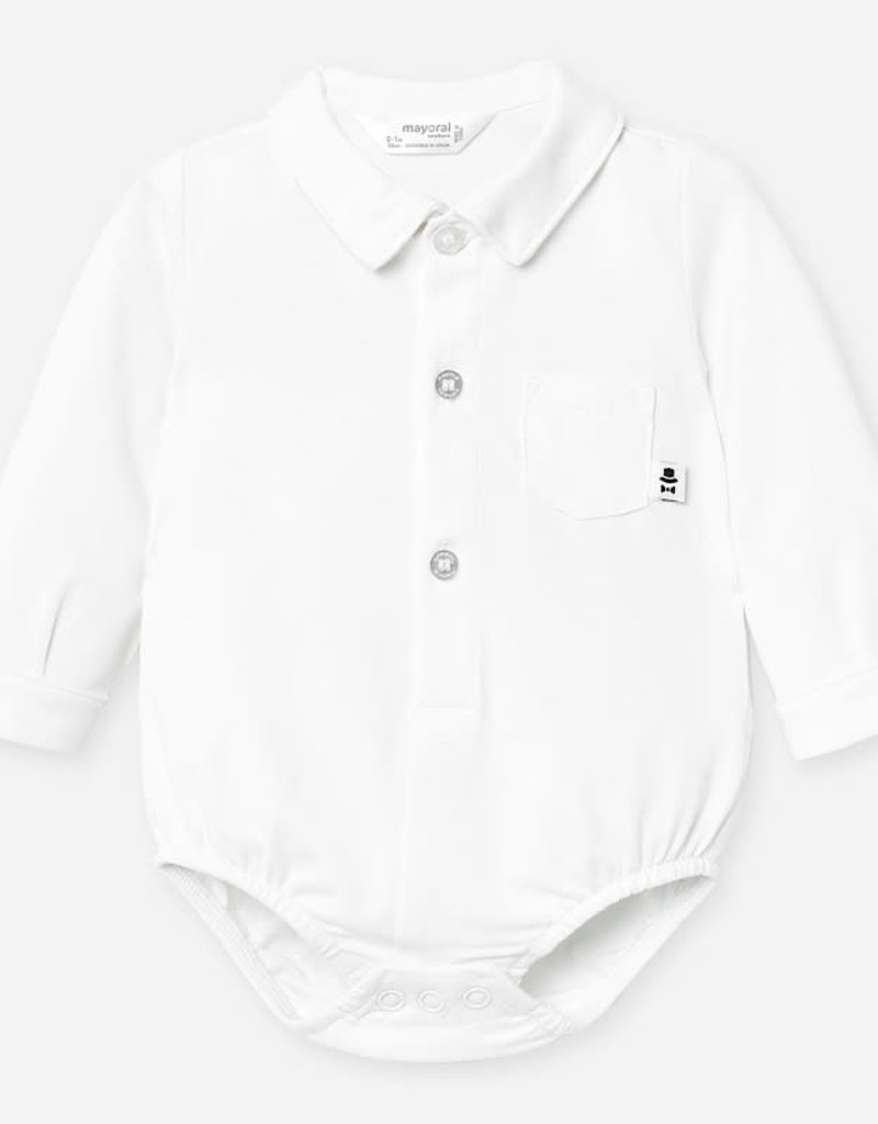 Mayoral Mayoral L/s shirt body wit - 1788