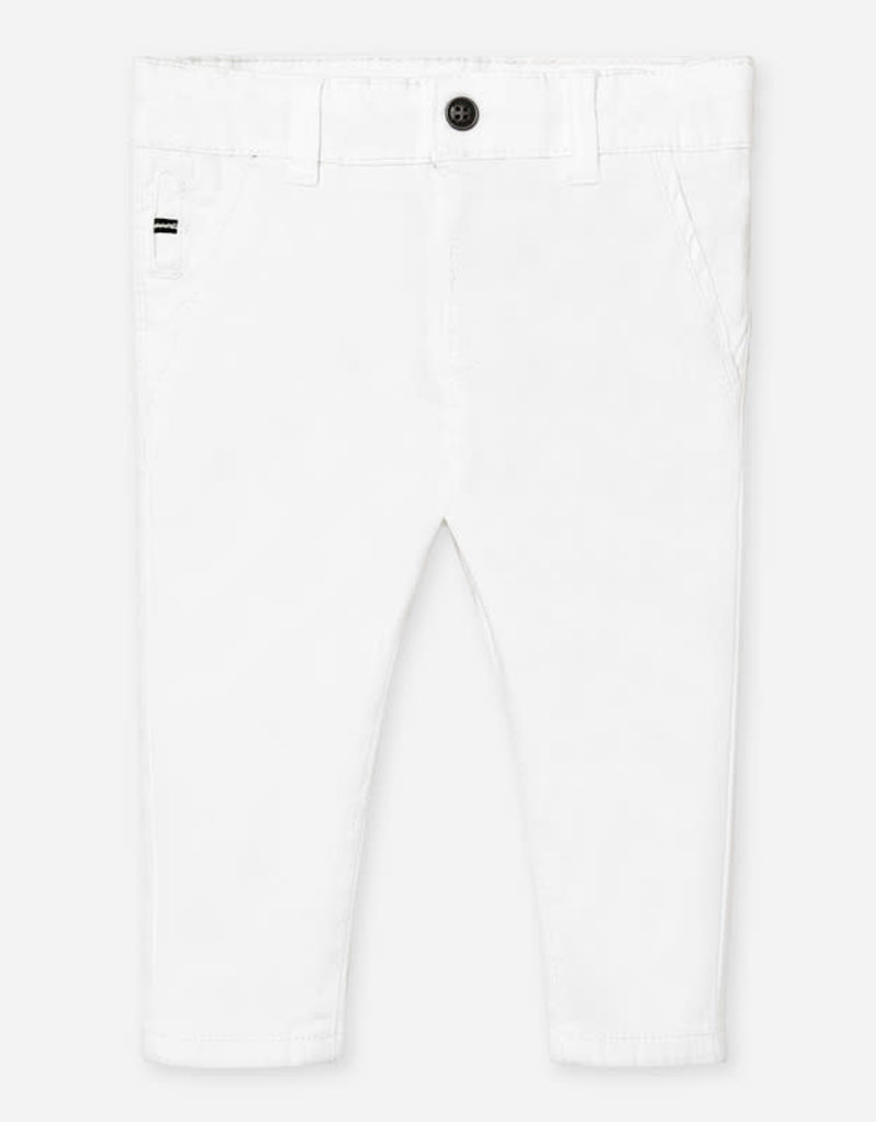 Mayoral Mayoral Slim fit chino trousers for baby boy wit