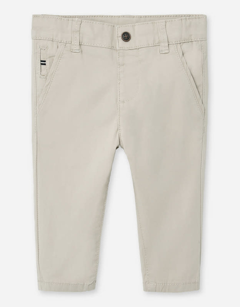 Mayoral Mayoral Slim fit chino trousers for baby boy beige