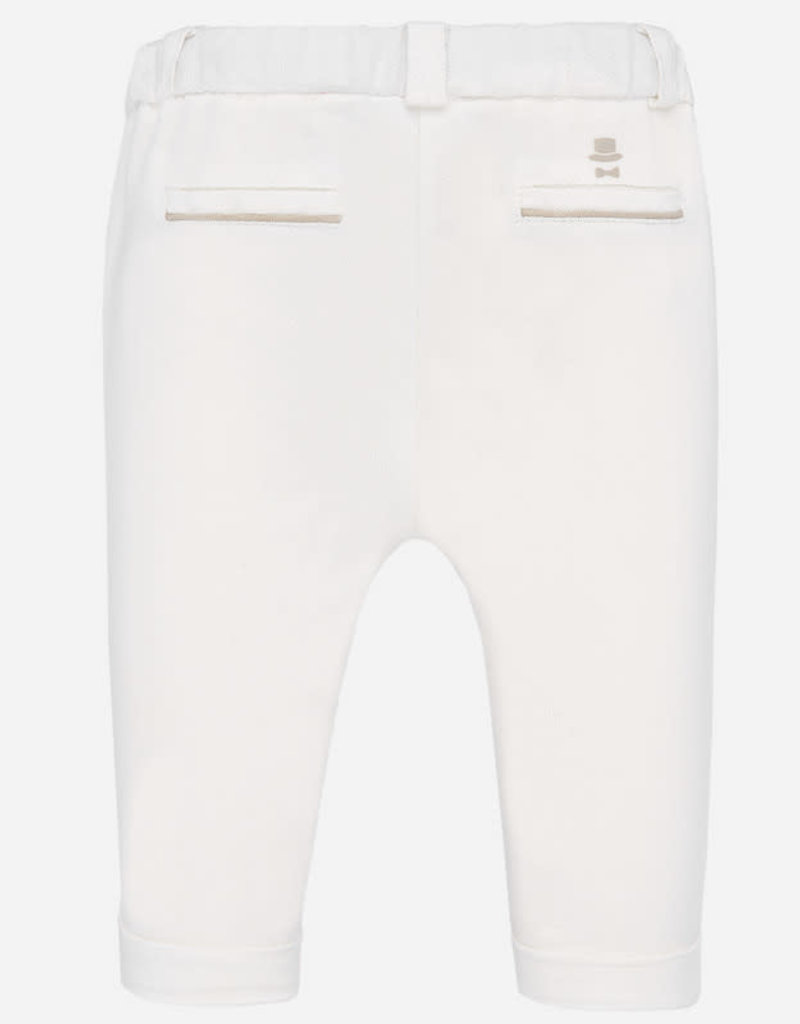 Mayoral Mayoral Formal trousers for newborn boy off white