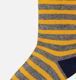 Mayoral Mayoral striped sock grey/yellow