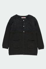 Boboli Boboli Knitwear jacket for girl BLACK 721392