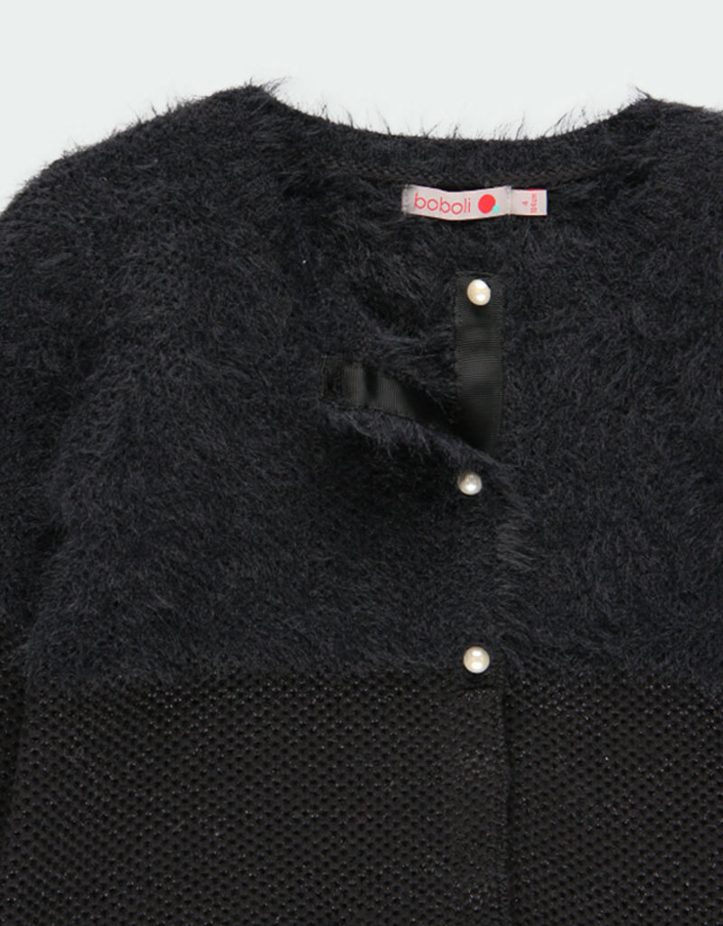 Boboli Boboli Knitwear jacket for girl BLACK 721392