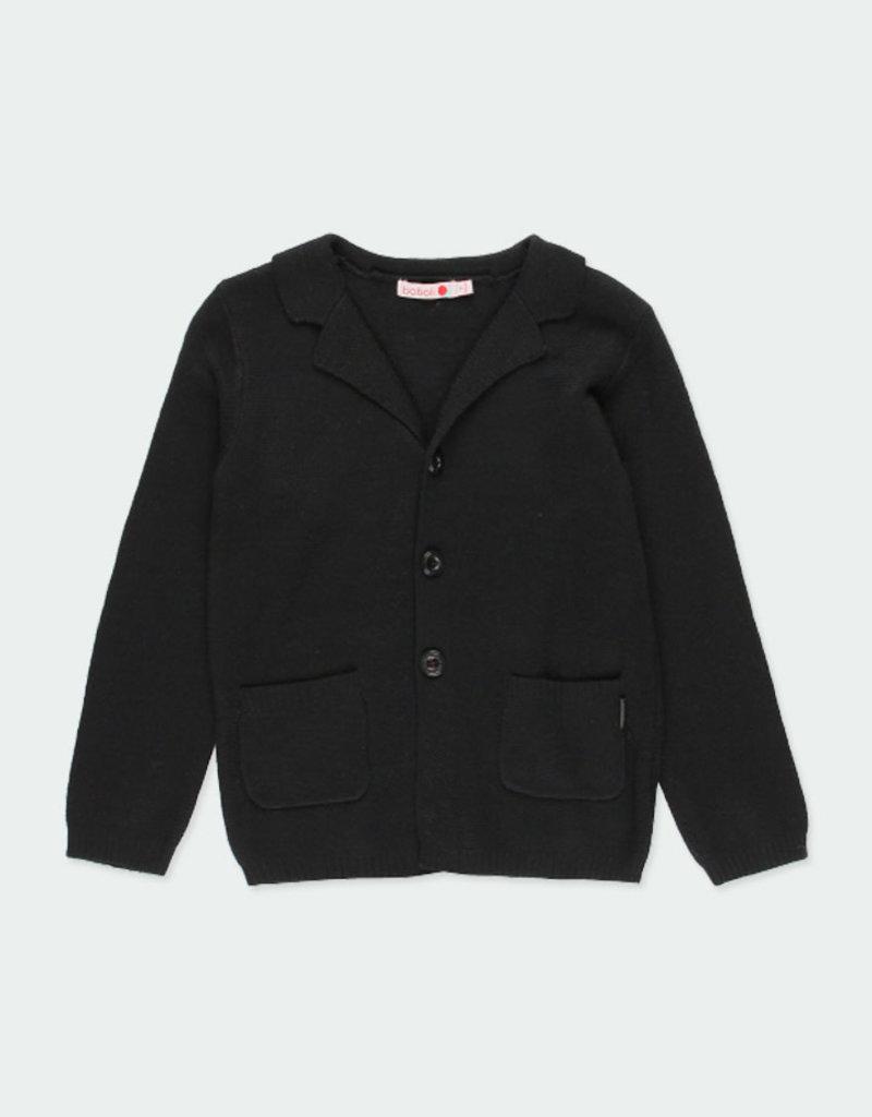 Boboli Boboli Knitwear jacket for boy BLACK 731113