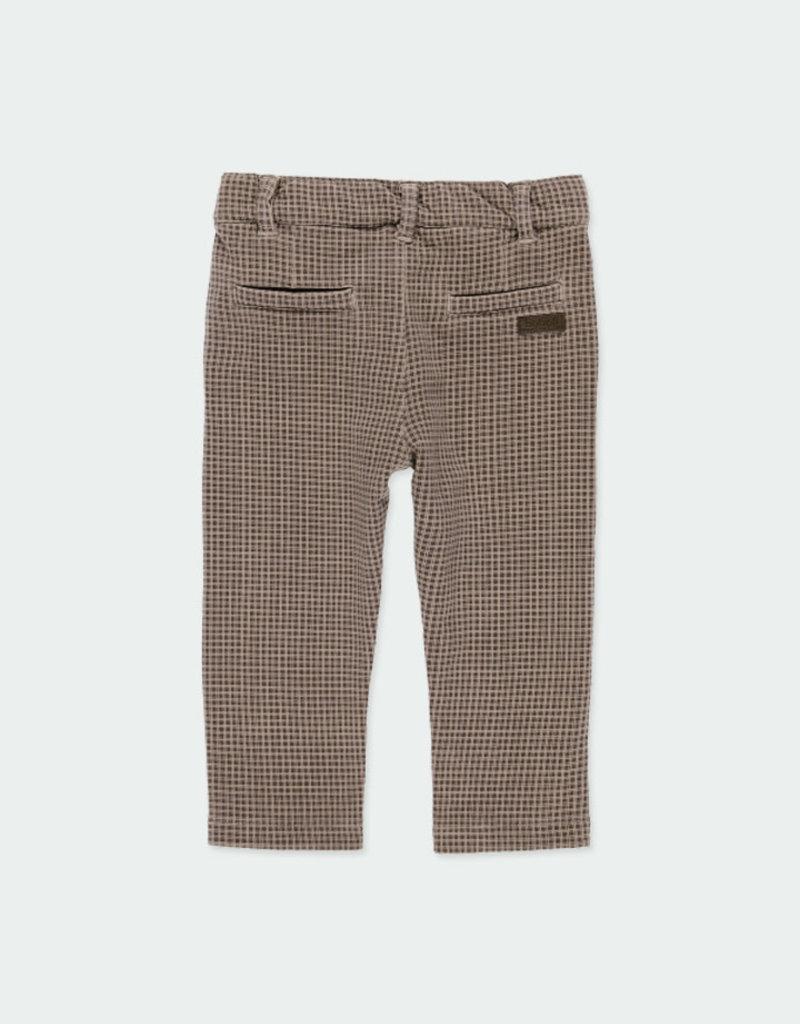 Boboli Boboli Fleece trousers check for baby boy print 321095