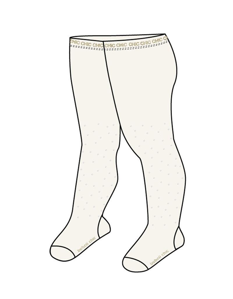 Boboli Boboli Thick tights crystals for baby girl off white 701064