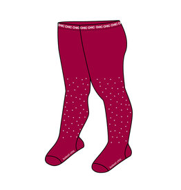 Boboli Boboli Thick tights crystals for baby girl berry 701064