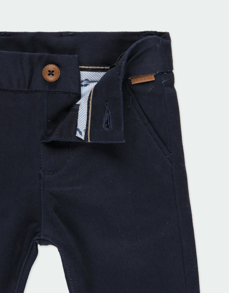 Boboli Boboli Stretch satin trousers for baby boy NAVY 711065
