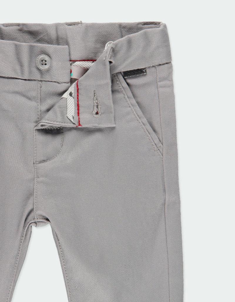 Boboli Boboli Stretch satin trousers for baby boy fog 711065