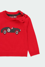 Boboli Boboli Knitwear pullover with elbow patches for baby berry 711144