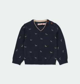 "Boboli Boboli Knitwear pullover ""puppy"" for baby boy NAVY 711256"
