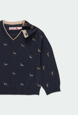 "Boboli Boboli Knitwear pullover ""puppy"" for baby boy NAVY 711256"