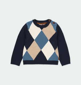 Boboli Boboli Knitwear pullover diamonds for boy NAVY 711289