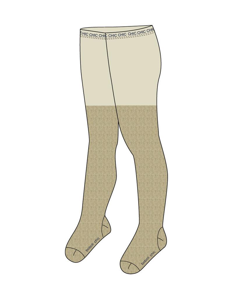 Boboli Boboli Thick tights for girl SAND 721055