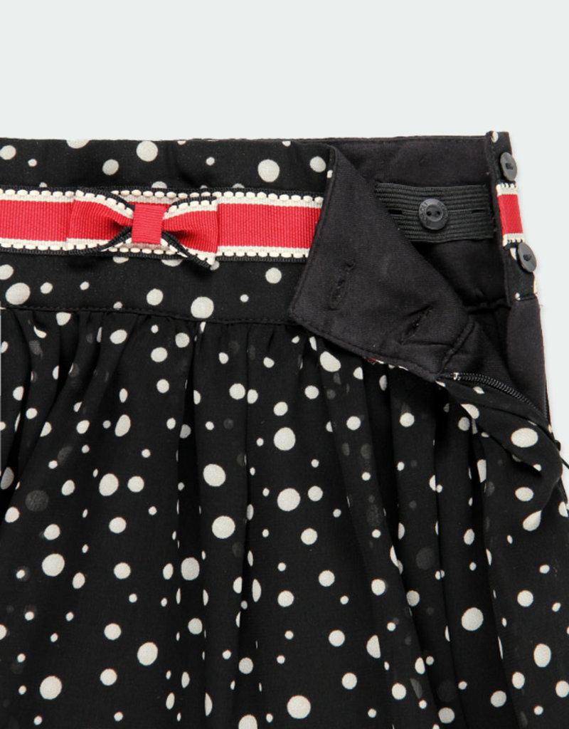 Boboli Boboli Skirt with gauze polka dot for girl print 721189