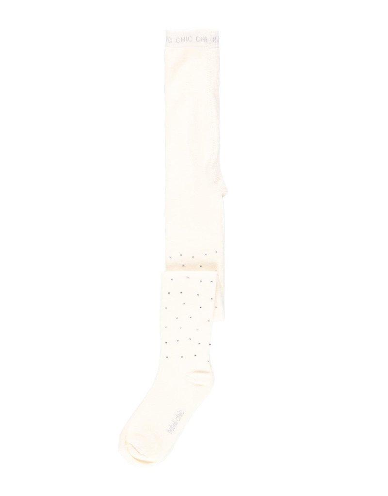 Boboli Boboli Thick tights crystals for girl off white 721381