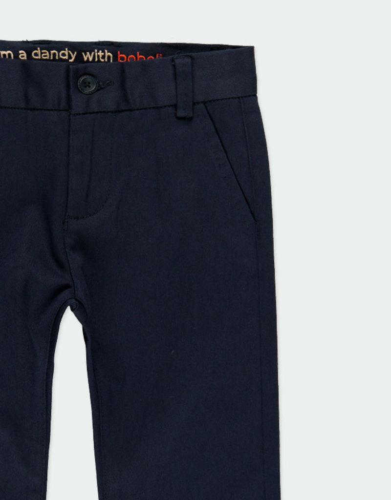 Boboli Boboli Stretch satin trousers for boy NAVY 731078