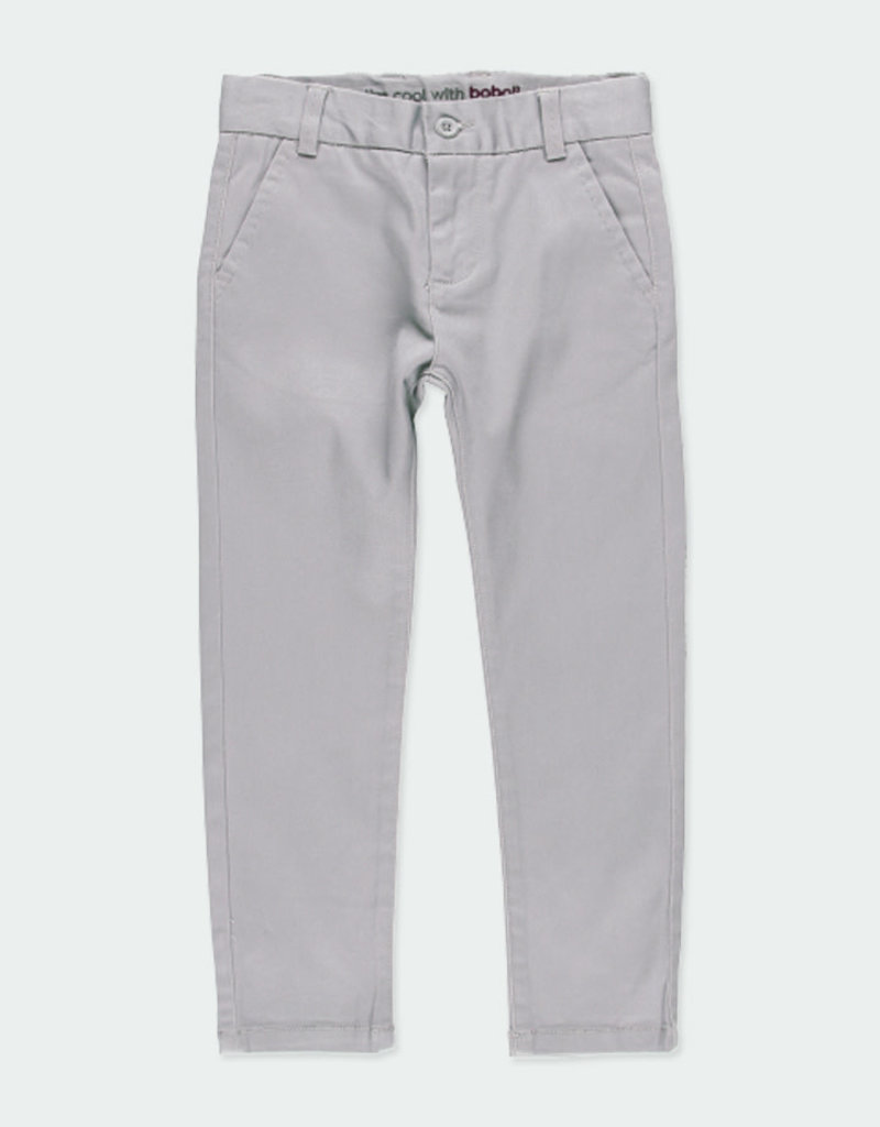 Boboli Boboli Stretch satin trousers for boy fog 731078
